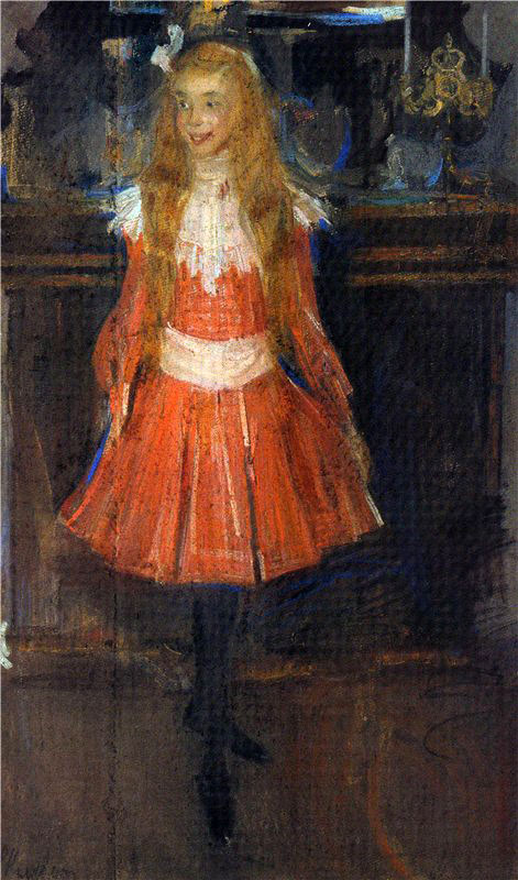 Little_foxy._Portrait_of_A.S._Botkina,_P.M._Tretiakov's_granddaughter_by_F._Malyavin_(1902)